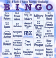 "The BINGO card used for our <a href=""https://www.goodreads.com/challenges/7962-sf-f-2018-bingo-challenge"">2018 SF&F Reading BINGO Challenge</a>."