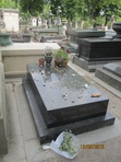 The grave of Marcel Proust in the spectacular Père Lachaise Cemetery in Paris