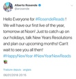 Here's a screenshot of Alberto's latest tweet regarding his book club.