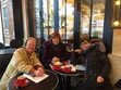 Photos of 3 members of the book club who met on 19 March to discuss book 1 The Perfect Nanny in Paris of recently translated French novels