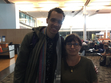 At Montreal airport, as I was boarding to Paris, I recognized author Gaël Faye standing next to me, who is the author of 'Small Country' , our Fall read. He was kind enough to accept to be in this pic with me.
