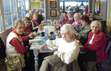 The Second Saturday Book Club at Millie's Market Cafe in Shipshewana, 12/8/2018.