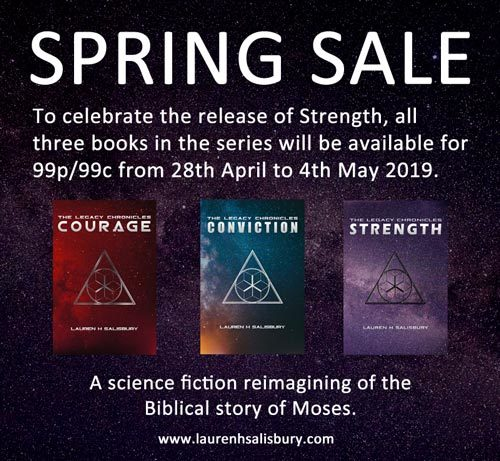 The Legacy Chronicles spring sale - 99p/99c each until May 4th