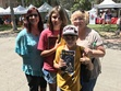 Author Sharon Skinner poses with readers at the Los Angeles Times Festival of Books in 2017