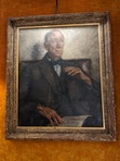 A portrait hanging in the Drawing Room of the Savile Club in London. Blackwood was a member along with Kipling and HG Wells, among other authors