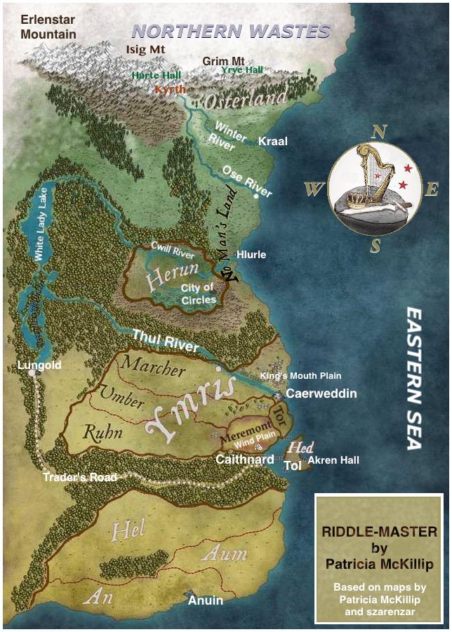 Map RIDDLE MASTER trilogy