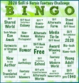BINGO Card for our 2020 Group Reading Challenge.