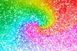 it's a sparkly rainbow spiral!