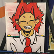 This is a picture of Kirishima that I painted! Hope you like it!