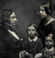 Henry Wadsworth Longfellow with his second wife, Frances Appleton and children.