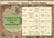 Literature History Human Rights Summer Bingo Board