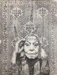 Portrait of Nawal El Saadawi drawn by the artist Maral Bolouri