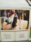 I saw this artwork of a young ballet dancer and pony at the Dublin Horse Show 2015. Photo: Clare O'Beara