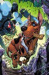 In [b:Scooby Apocalypse, Volume 1|32273164|Scooby Apocalypse, Volume 1|Keith Giffen|https://images.gr-assets.com/books/1481795684s/32273164.jpg|52898161] Who do we see speak first?