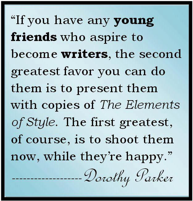 If You Have Any Young Friends Who Aspire To Become Writers, The Second  Greatest Favor. U201c