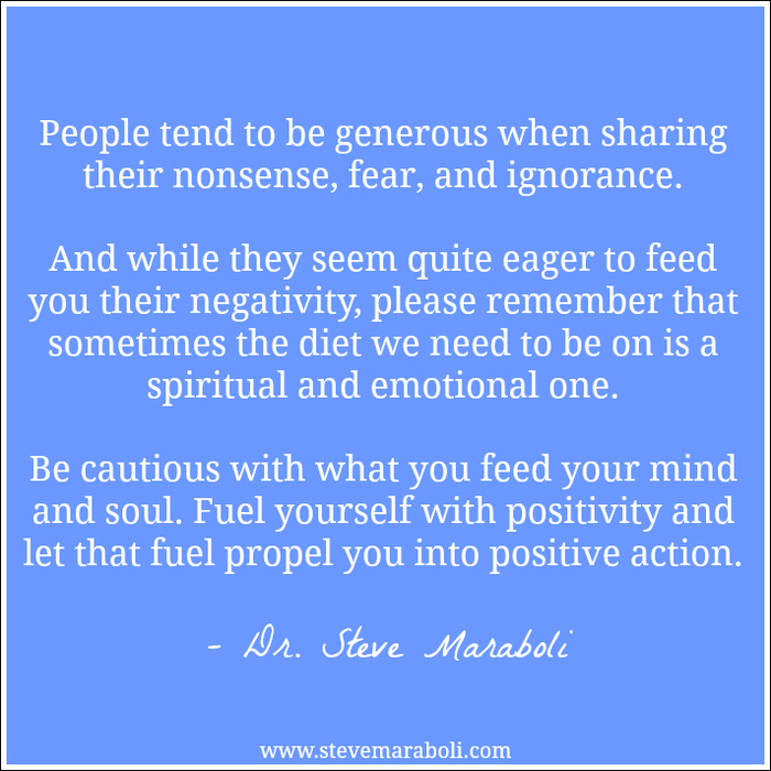 quotes about negativity quotes  people tend to be generous when sharing their nonsense fear and ignorance and ""