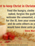 Want to keep Christ in Christmas? Feed the hungry, clothe the naked, forgive the guilty,