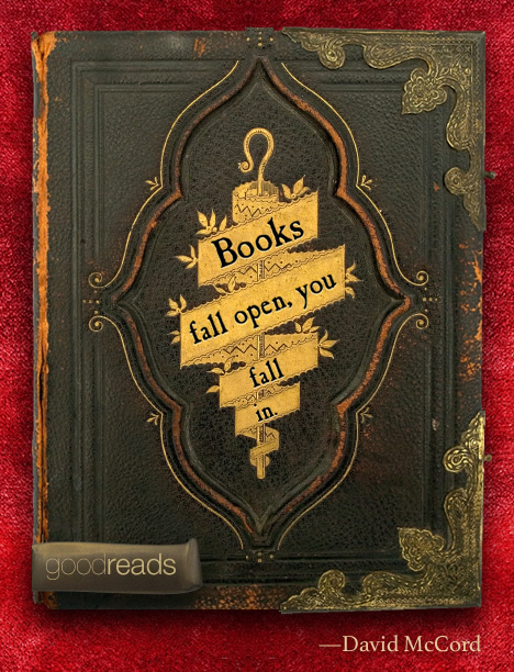 "Goodreads Quotes Beauteous Quotedavid T.wmccord ""Books Fall Open You Fall In."""