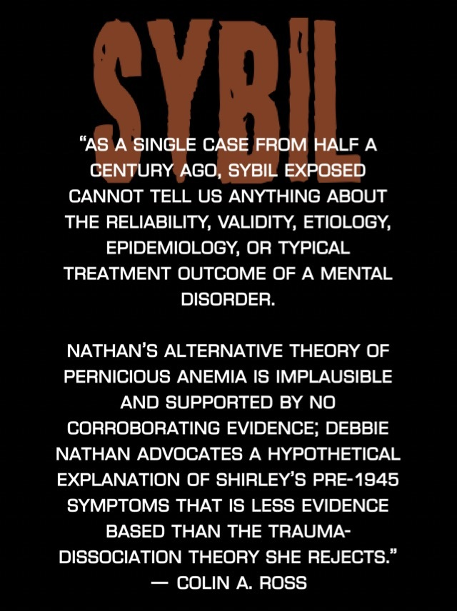 sybil multiple personality disorder