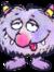 purple fluff ball