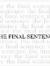 The Final Sentence